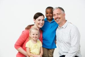 Foster parents with multi-racial children in foster care